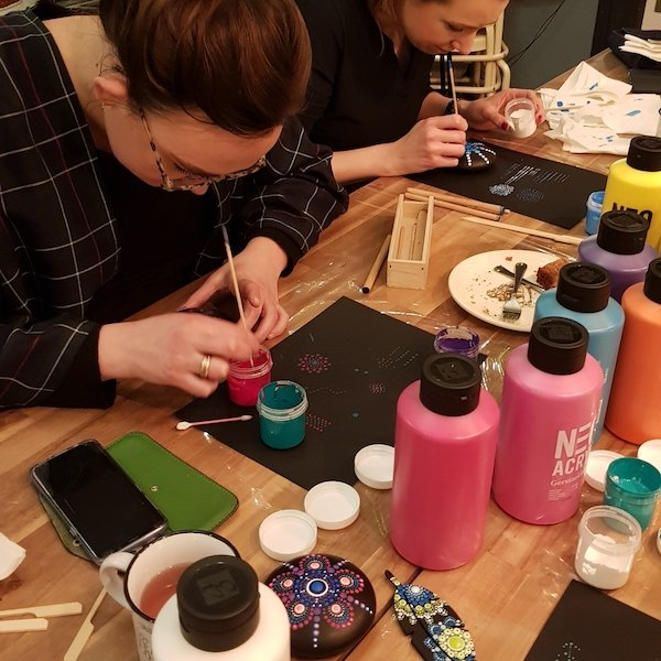 Basis workshop mandala dot painting | Basis workshop