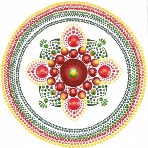 Dot painting: Perfectionisme of 'Aboriginalisme'? | dot painten | dotten | symmetrisch | schoonheid | uniek