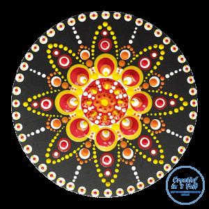 Fiesta!   Kadotje   Creatief in 't Veld   Dot painting paneel   Dot Art