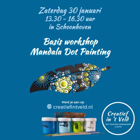 workshop Mandala Dot Painting | Basis | Schoonhoven | in vrijheid dotten | genieten | creatieve workshop